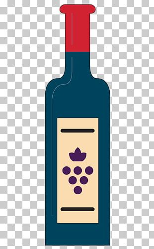 Red Wine Cocktail Liqueur Bottle PNG