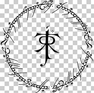 The Lord Of The Rings Quenya Tengwar Elvish Languages One Ring Png
