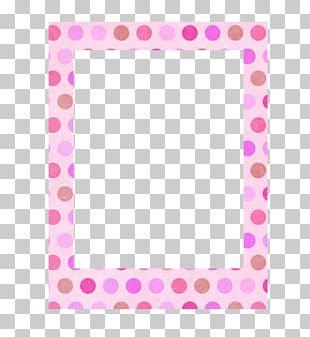 Polka Dot Line Point Frames Pink M PNG
