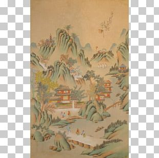 Landscape Painting Art Silk Painting Chinese Painting PNG