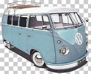 Volkswagen Type 2 Van Bus Car PNG