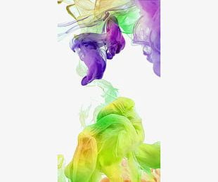 Green Purple Smoke Abstract Dream Background PNG