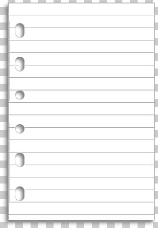 Ruled Paper Notebook Filofax Diary PNG