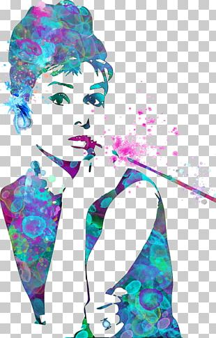 Audrey Hepburn Pop Art Painting Canvas Print PNG