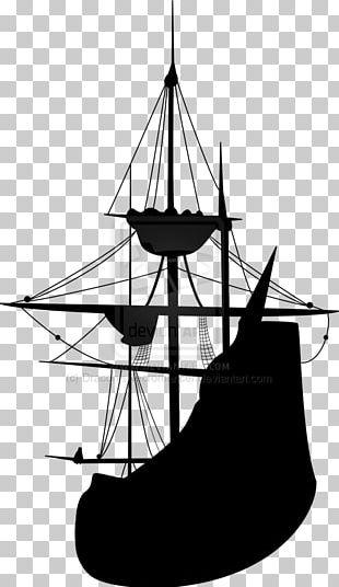 Sailing Ship Silhouette Tall Ship PNG