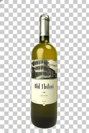 White Wine Alazani Liqueur Glass Bottle PNG