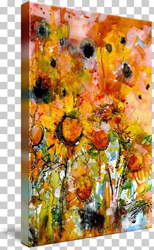 Modern Art Common Sunflower Watercolor Painting Abstract Art PNG