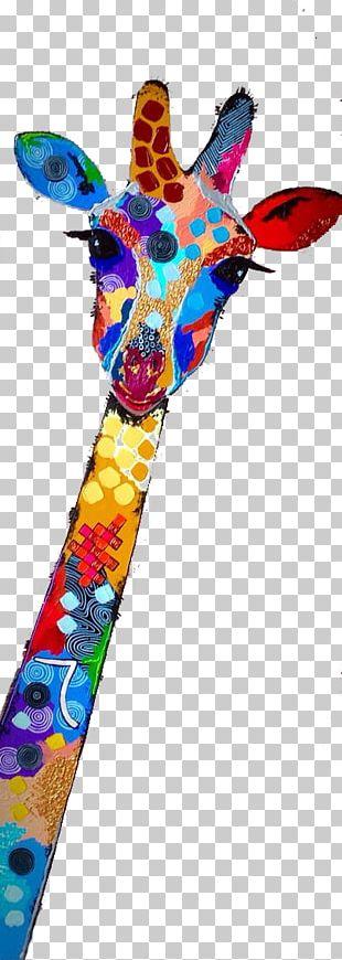 Northern Giraffe Watercolor Painting Illustration PNG