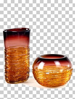Old Fashioned Glass Old Fashioned Glass Vase Caramel Color PNG