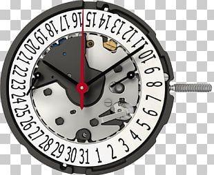 Quartz Clock Ronda Movement Watch PNG