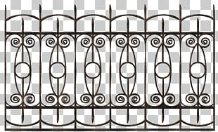 Wrought Iron Fence PNG