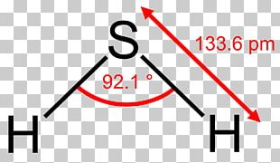 Hydrogen Sulfide Molecule Structural Formula Molecular Geometry PNG