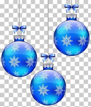 Christmas Ornament Snowflake Blue Sphere PNG