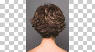 Layered Hair Lace Wig Hairstyle PNG