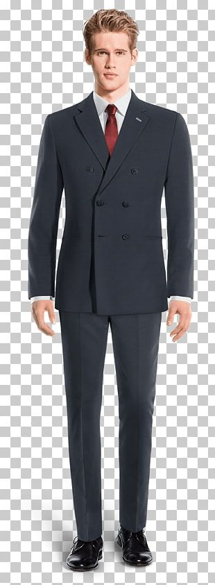 Suit Waistcoat Tuxedo Navy Blue Single-breasted PNG