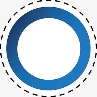 Blue Circle Dotted Line PNG