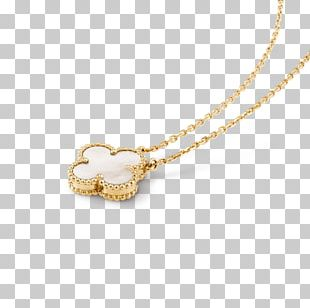 Locket Necklace Van Cleef & Arpels Charms & Pendants Gold PNG