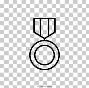 Coloring Book Drawing Medal Black And White Ausmalbild PNG