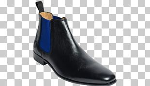 Chelsea Boot Shoe Leather Blue PNG