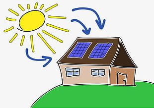 Hand-painted Cartoon Solar Energy PNG