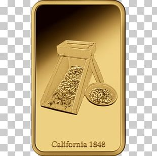 Gold Bar Silver Coin California Gold Rush PNG