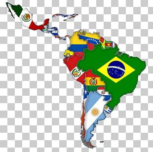 Latin America Flags Of South America Map PNG