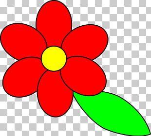 Flower Petal Leaf Red PNG