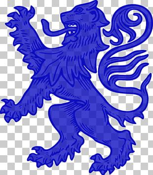 Lion Royal Banner Of Scotland Coat Of Arms Crest PNG
