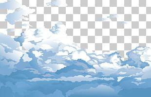 Sky Cloud Euclidean Blue PNG