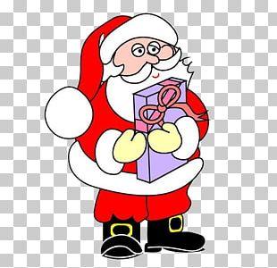 Santa Claus Reindeer Christmas Tree Child PNG
