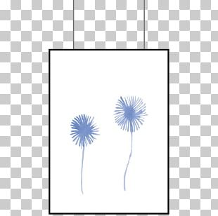 Flowering Plant Line Font PNG