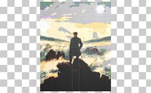 Wanderer Above The Sea Of Fog The Abbey In The Oakwood Romanticism Landscape Painting PNG