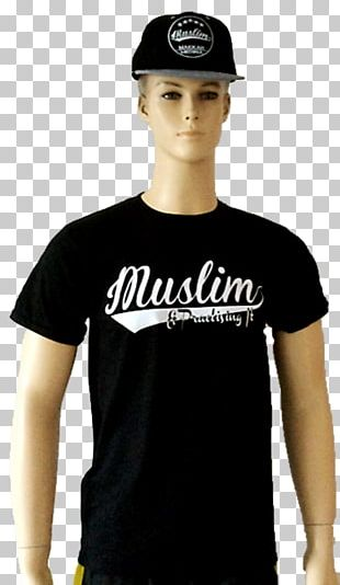 T-shirt Black M Shoulder Sleeve Logo PNG
