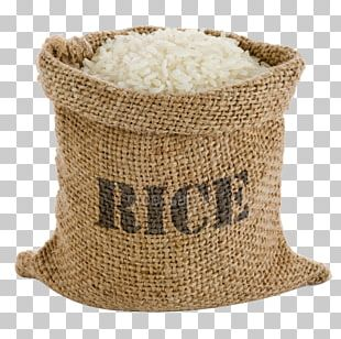 Cooked Rice Basmati Grocery Store Gunny Sack PNG