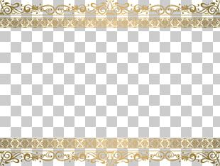 Golden Lace Frame PNG
