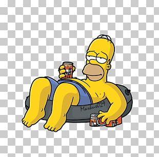 Homer Simpson Bart Simpson Sticker Telegram D'oh! PNG