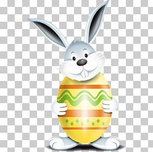 Easter Bunny Red Easter Egg PNG