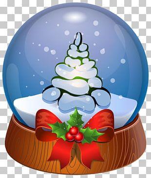 Santa Claus Snow Globe Christmas PNG