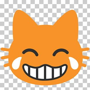 Cat Face With Tears Of Joy Emoji Crying Laughter PNG