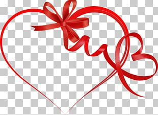 Heart Valentines Day Ribbon PNG