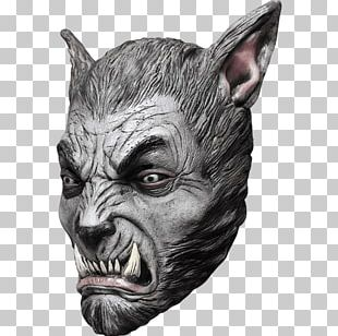 Gray Wolf Latex Mask Halloween Costume PNG