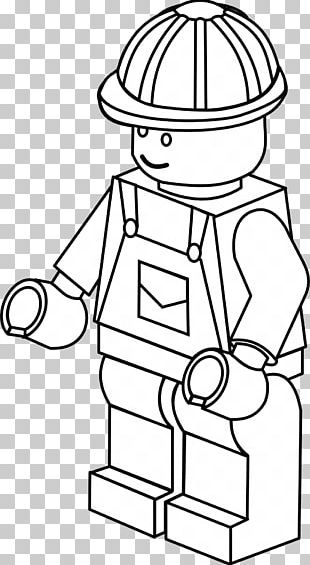 Colouring Pages Coloring Book Lego Minifigure Firefighter PNG