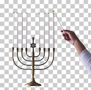 Light Candle Hanukkah Menorah Temple In Jerusalem PNG