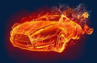 Car Fire Effect PNG
