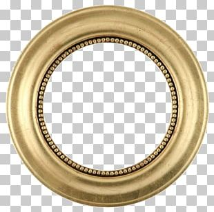 Frame Mirror Gold Leaf Circle PNG