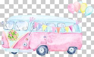 Car Watercolor Painting PNG