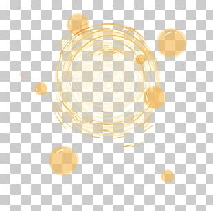 Circle Yellow Pattern PNG
