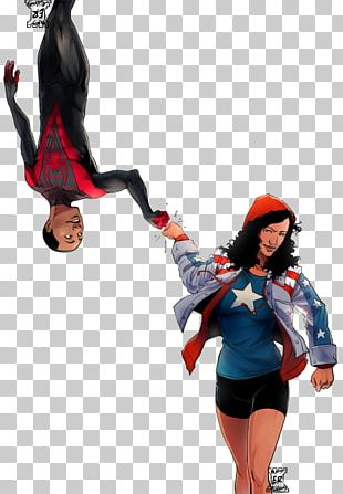 Spider-Man Iron Fist Captain America Miss America Young Avengers PNG