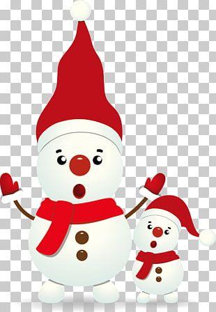 Snowman Euclidean Christmas Card PNG