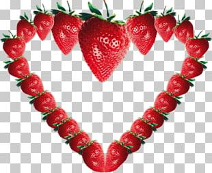 Strawberry Heart Painting PNG